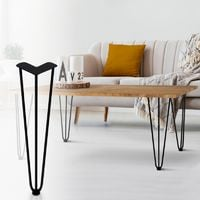 Lot De 4 Pieds Epingle 40 5 Cm Pour Table Design Industriel 13327