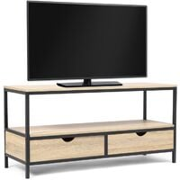 Meuble TV DETROIT 2 tiroirs design industriel