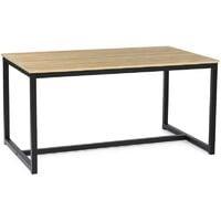 Table à manger DETROIT 6 personnes design industriel 150 cm