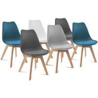 Lot de 4 chaises SARA gris foncé pour salle à manger 12699