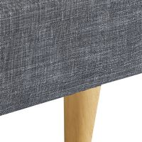 Lit double scandinave BALTA 140 x 190 CM tissu gris anthracite