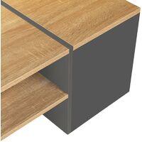 Table basse bar contemporaine IZIA avec coffre bois et gris