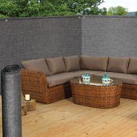 Brise vue renforcé 1,2 x 10 m gris 220 gr/m² luxe pro