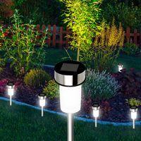 Lot de 20 bornes solaires à LED lampes de jardin à planter