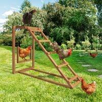 Aire de jeux en bois pour poules avec balançoire et perchoir