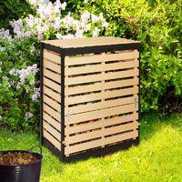 Bac de compostage en bois 360L
