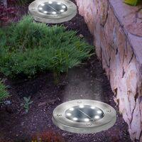Lot de 10 disques solaires à LED spots de jardin