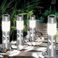 Lot de 4 lampes solaires extérieures IRIS à motifs