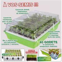 Kit de germination 40 godets lot x2 pour semis