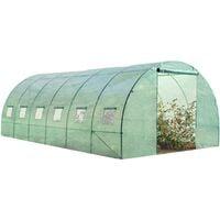 Serre tunnel de jardin 18m² verte gamme maraichère CRIMÉE 6x3M