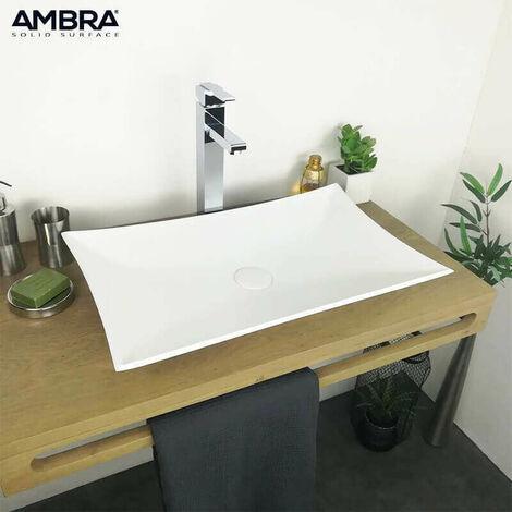 Vasque à poser design en Solid surface 62 cm - Leaf