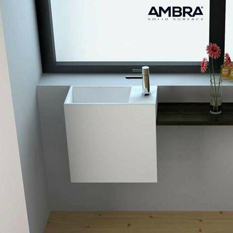 Lave-mains suspendu en Solid surface 40 cm - Palma D