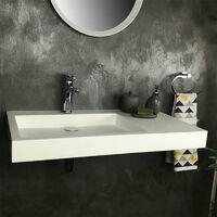 Vasque 80 cm suspendue ou à poser, en Solid surface - Passoa