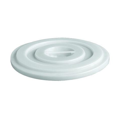 Coperchio per bidone in plastica per alimenti da 50 litri - Bianco neutro - Mobil Plastic