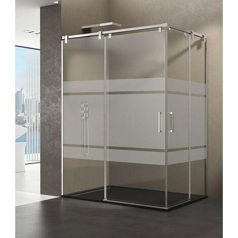 Mampara de ducha FUTURA angular Medida 1: 65-70, Medida 2: 65-70, Decorado: Frost