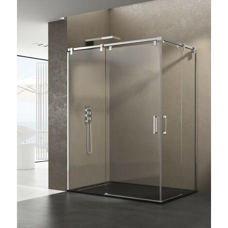 Mampara de ducha FUTURA angular Decorado: Transparente Medida 1: 115-120, Medida 2: 85-90