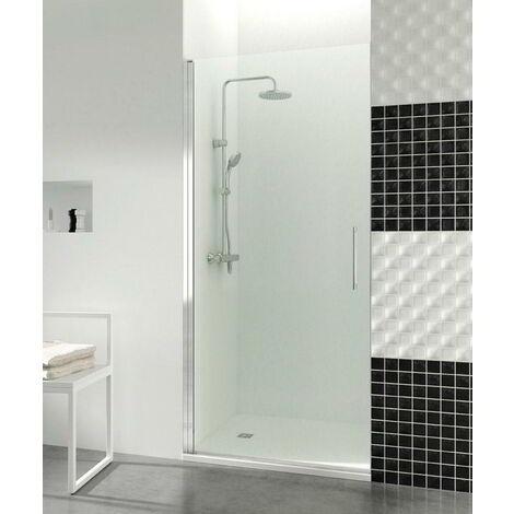 Mampara de ducha Open 1 puerta abatible con cierre imán a pared Medida 1: 41,1-42,6