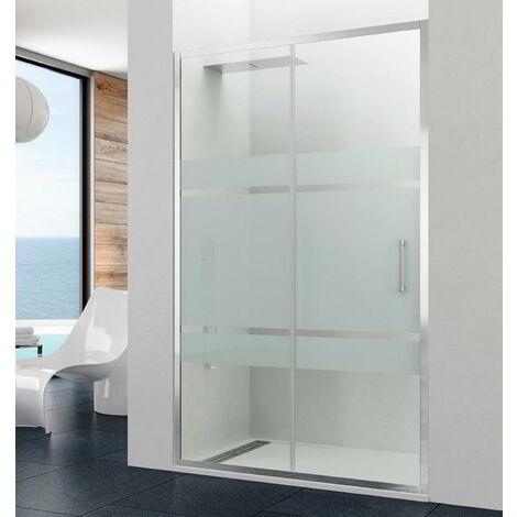 Mampara de ducha PRESTIGE fijo + corredera Rango de instalación: 137-143, Cristal: Frost