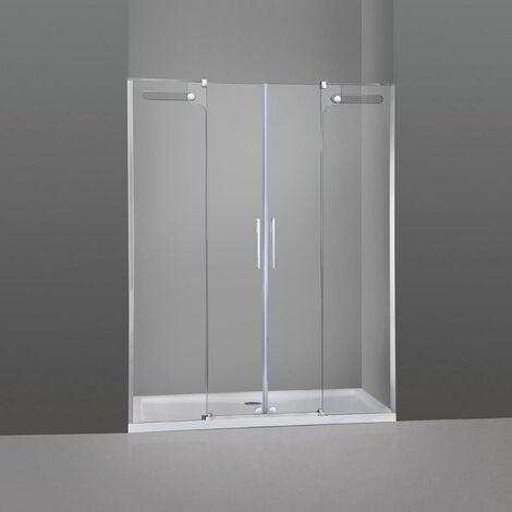 Mampara de ducha VETRUM 2 fijos + 2 correderas Rango de instalación: 134-154 cm