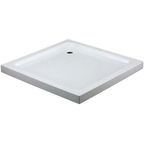 Plato de ducha acrílico cuadrado H7 Medida: 80x80x7 + valvula desagüe