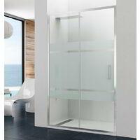 Mampara de ducha PRESTIGE fijo + corredera Rango de instalación: 97-103, Cristal: Frost