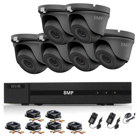 HIZONE PRO 8MP CCTV KIT SECURITY SYSTEM 4K DVR 8CH+&6X 5MP FULL HD METAL HOUSING WATERPROOF IN/OUTDOOR DOME CAMERAS 20M NIGHT VISION P2P MOTION DETECTION EMAIL ALERT REMOTE VIEW (NO HDD PRE-INSTALLED)