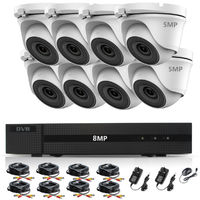HIZONE PRO 8MP CCTV KIT SECURITY SYSTEM 4K DVR 8CH H.265+ & 8X5MP WHITE FULL HD METAL HOUSING IP66 WATERPROOF INDOOR OUTDOOR DOME CAMERAS 20M NIGHT VISION EASY P2P REMOTE VIEW (No HDD PRE-INSTALLED)