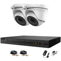 Hizone Pro 4CH CCTV KIT DVR 1080P & 2 x 2.0MP Full HD 1080P 2.8mm White Dome CCTV Cameras IR 20M Night Vision 1080P Output, Motion Detection, Mobile App Hik-Connect, Email Alert, P2P, Day/Night Vision (NO HDD pre-installed)