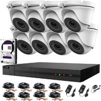 Hizone Pro 16CH CCTV KIT DVR 1080P & 8 x 2.0MP Full HD 1080P 2.8mm Wide Angle Dome CCTV Cameras IR 20M Night Vision 1080P Output, Motion Detection, Hik-Connect, Email Alert, P2P, 20M IR Distance, Night Vision (2TB HDD pre-installed)