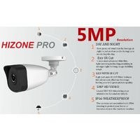 HIZONE PRO 5MP CCTV KIT SECURITY SYSTEM 4K 4CH DVR & 3X 5MP FULL HD METAL HOUSING IP66 WATERPROOF INDOOR OUTDOOR WHITE BULLET CAMERAS 20M IR NIGHT VISION EASY P2P REMOTE VIEW MOTION DETECTION UK SELLER (NO HDD PRE-INSTALLED)