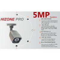 HIZONE PRO 8MP CCTV KIT SECURITY SYSTEM 4K 8CH DVR & 6 X 5MP FULL HD METAL HOUSING IP66 WATERPROOF INDOOR OUTDOOR GRAY BULLET 3.6mm CAMERAS 20M IR NIGHT VISION EASY P2P REMOTE VIEW MOTION DETECTION UK SELLER-NO HDD PRE-INSTALLED