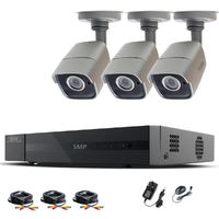 HIZONE PRO 5MP CCTV KIT SECURITY SYSTEM 4K 4CH DVR & 3 X 5MP FULL HD METAL HOUSING IP66 WATERPROOF INDOOR OUTDOOR GRAY BULLET 2.8mm WIDE ANGLE CAMERAS 20M IR NIGHT VISION EASY P2P REMOTE VIEW MOTION DETECTION UK SELLER- NO HDD PRE-INSTALLED