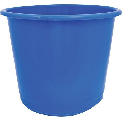 Offis Plastic Blue Waste Bin - 14 Litre