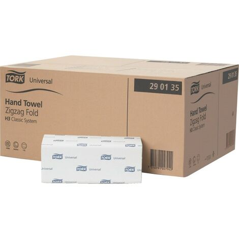 Tork Singlefold Paper Hand Towels Universal H3, 1-Ply Green 290135 (PK20)