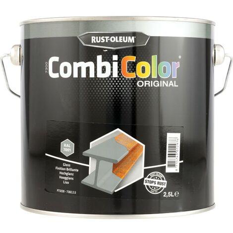 Rust-oleum 7382 Combicolor Steel Grey Metal Paint - 2.5LTR