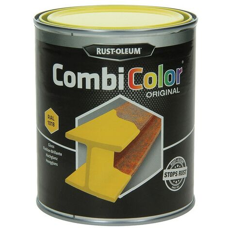 Rust-oleum 7343 Combicolor Light Yellow Metal Paint - 2.5LTR