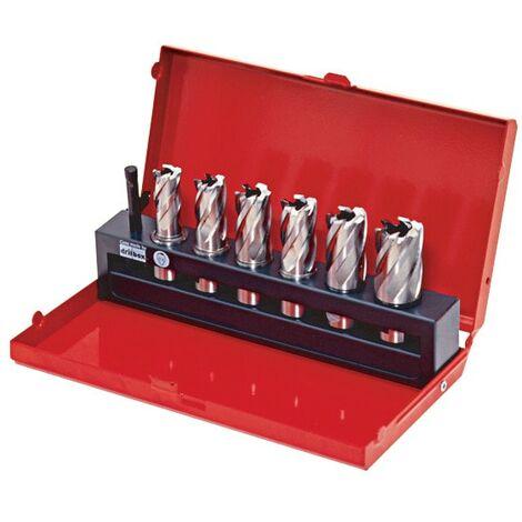 Kennedy HSS Type Annular Mag Drill Hole Cutter Short - 6 Piece Set in Metal Case