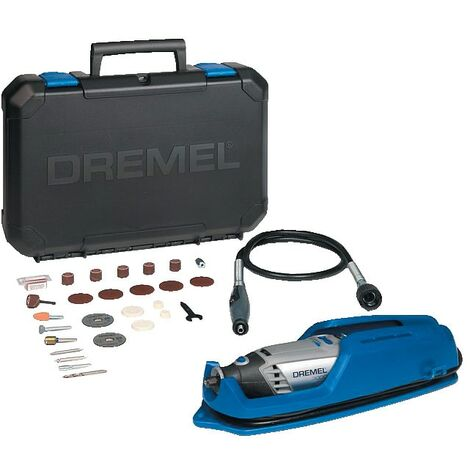Dremel 3000-1/25 Corded Multi Tool 130W with Flexible Shaft Attachment and 25-PI