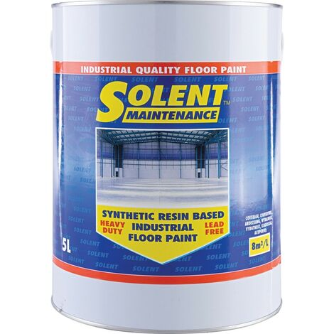 Solent Maintenance Synthetic Resin Based Industrial Dark Grey Floor Paint - 5LTR