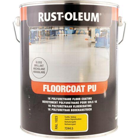 Rust-oleum 7244 Floorcoat PU Traffic Yellow Gloss 5L RAL1023