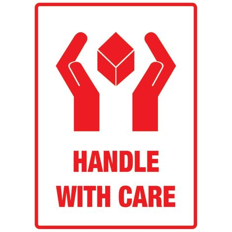 """Packaging Labels 108X79MM """"handle with Care"""" (ROLL-500)"""