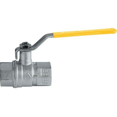 Camozzi 6273 3/8 BSP Gas/WRAS Ball Valve Yellow Handle