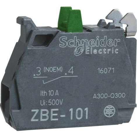 Schneider Electric Contact Block, Single, for Silver Alloy Screw Clamp Terminal,