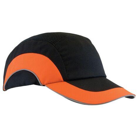 JSP ABR000-00N-500 Hardcap A1+/BUMP Cap 7CM Long Peak Black/Hi-vis Orange