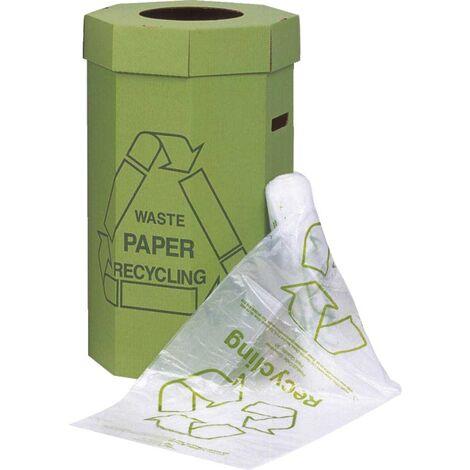 Acorn Green Bin Liner Clear/Printed (Pk-50)