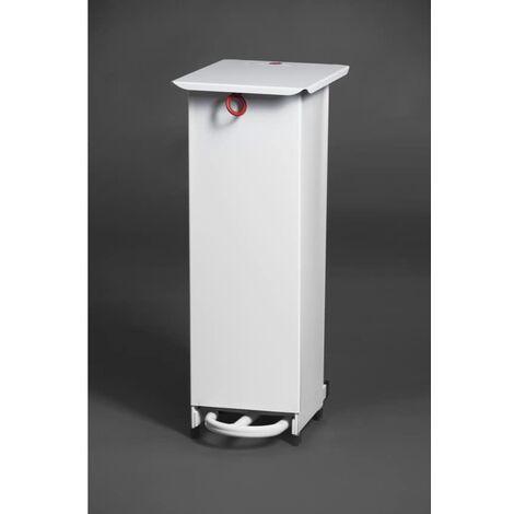 White Sack Holder Waste Pedal Bins 20 Litre