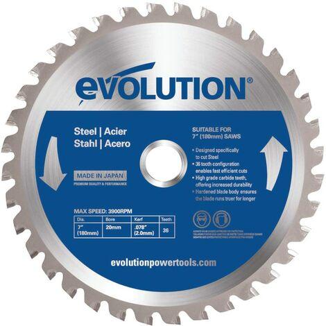 Evolution Power Tools Evoblade TCT Saw Blade for Mild Steel 180MM - 36 Teeth