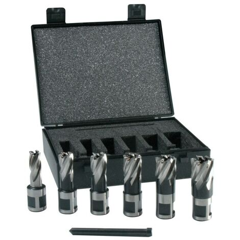 Evolution Power Tools Mag Drill Hole Cutter Set Cyclone - 6 Piece Short