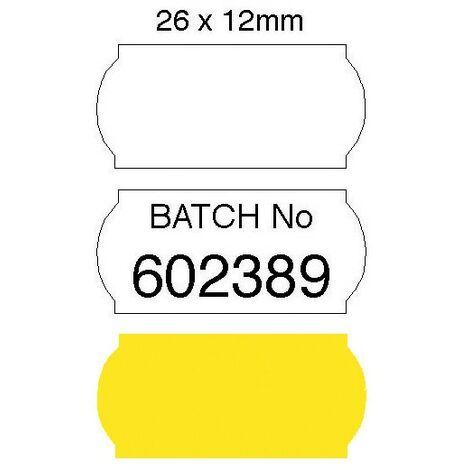 Positive-id Plain Yellow Labels 26X12 MM (Pk-1500)