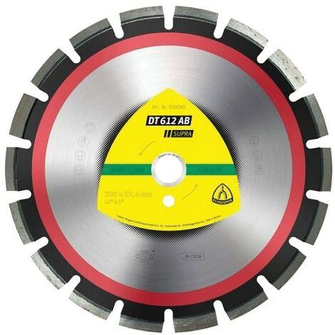 Klingspor DT612AB Supra 300X20MM Asphalt & Concrete Petrol Saw Diamond Cutting B